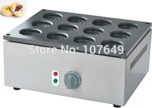 12pcs Commercial Use Non-stick 220v Electric Red Bean Waffle Obanyaki Imagawayaki Iron Maker Machine Baker free shipping 32pcs 6 8x2 3cm 220v electric obanyaki dorayaki red bean waffle baker maker