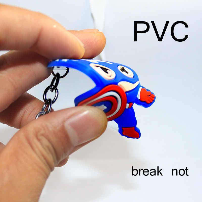 Marvel Captain America PVC Keychain phụ kiện Quần Áo Bé món quà Túi Mặt Dây Chuyền Đồ Trang Sức Dễ Thương Quyến Rũ Ví Túi Xách Chìa Khóa Xe Keyring