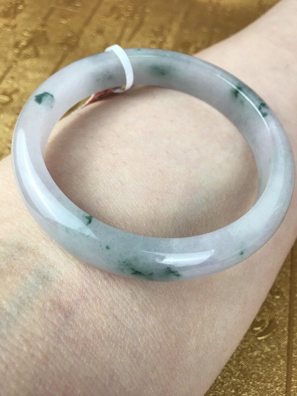 Send A certificate natural Jadeite bracelets Carved ice bottom floating blue 54-61mm womens bracelet Jewelry giftsSend A certificate natural Jadeite bracelets Carved ice bottom floating blue 54-61mm womens bracelet Jewelry gifts