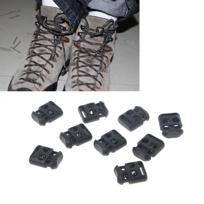 EYKOSI 10 Pcs/Lot Non-Slip Shoelace Buckle Clip Stopper Rope Clip Clamp Cord Cable LockEYKOSI 10 Pcs/Lot Non-Slip Shoelace Buckle Clip Stopper Rope Clip Clamp Cord Cable Lock