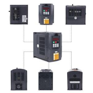 Image 3 - 1.5KW/220V CNC mili 1500W 220V 24000RPM hava soğutmalı mil motoru CNC Motor + 1.5KW invertör + 1 takım er11 kare freze mili