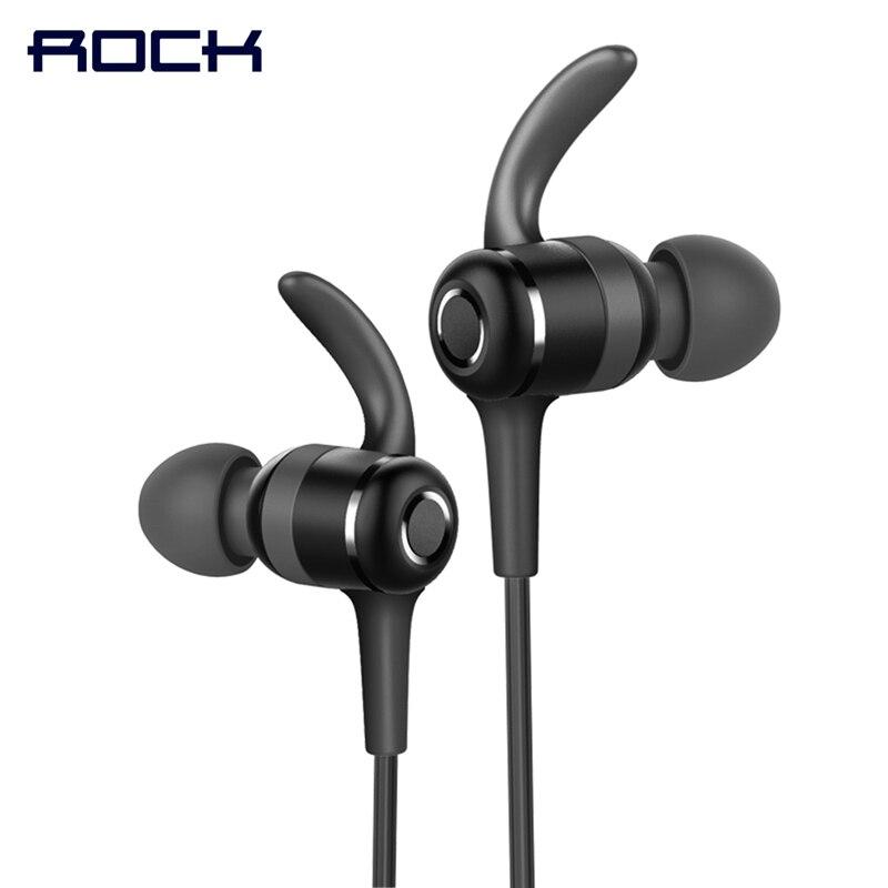 Magnétique Sport Bluetooth Écouteur, ROCK Espace Série IPX4 Bluetooth Dans L'oreille casque écouteur avec Mic