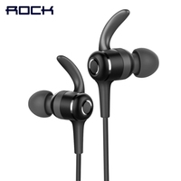Magnetic Sports Bluetooth Earphone ROCK Space Series IPX4 In Ear Bluetooth Headset Earphone With Mic
