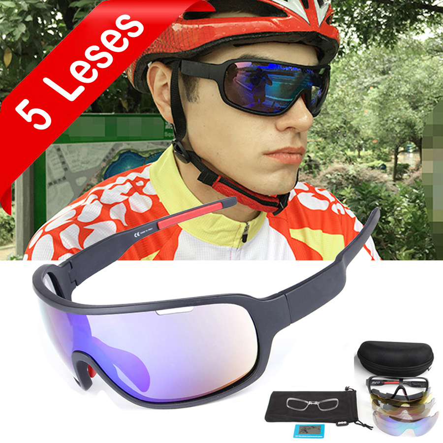 NEWBOLER 5 Lens Cycling Sunglasses Polarized Men Women UV400 Sport Glasses Road Bike Eyewear Gafas Ciclismo For Bicycle Lunettes