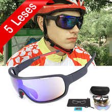 NEWBOLER 5 Lens Cycling Sunglasses Polarized Men Women UV400 Sport Gla