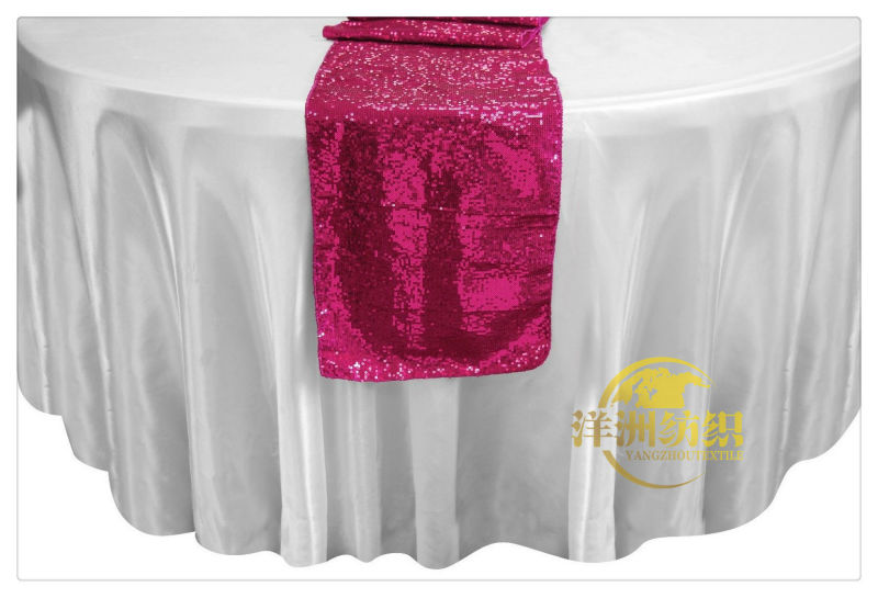 glitter fuchsia metallic sequence sequin table runner