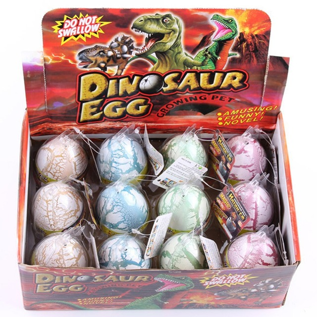 12pcs/set White Fun Water Hatching Inflation Dinosaur Egg Watercolor Cracks Grow Egg Educational Toys Interesting Gift -50