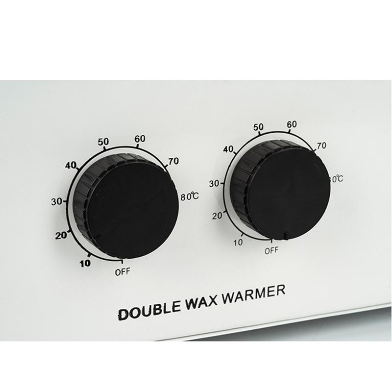 Купить с кэшбэком MEIERLI Double Pots Depilatory Wax Heater Machine Paraffine Wax Warmer For Hand And Feet SPA Epilator Hair Removal Tool