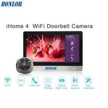 """BONLOR WiFi Digitale Kijkgaatje Viewer-Opzettelijk 7 """"LCD Touchscreen Voordeur Kijkgaatje Camera Wifi Deurbel met Intercom"""