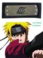 Envío Gratis Naruto Hidden Leaf Village Konoha Negro/Rojo Cintas de Ninja Anime Cosplay Accesorios