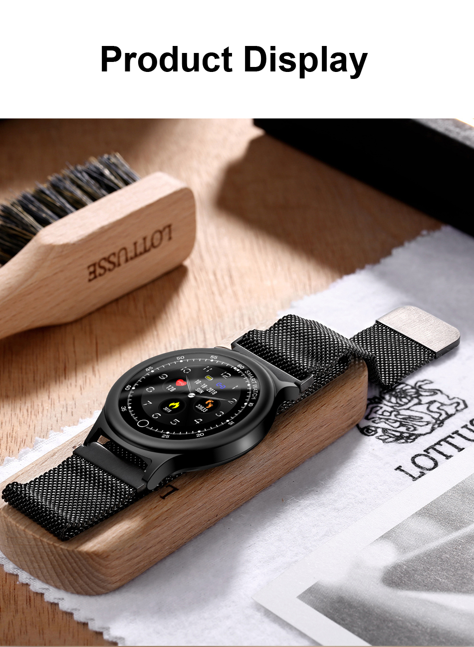 Q28 Smart Watch IP67 Waterproof Wearable Device Bluetooth Pedometer Heart Rate Monitor Men Fashion SmartWatch For AndroidIOS (16)