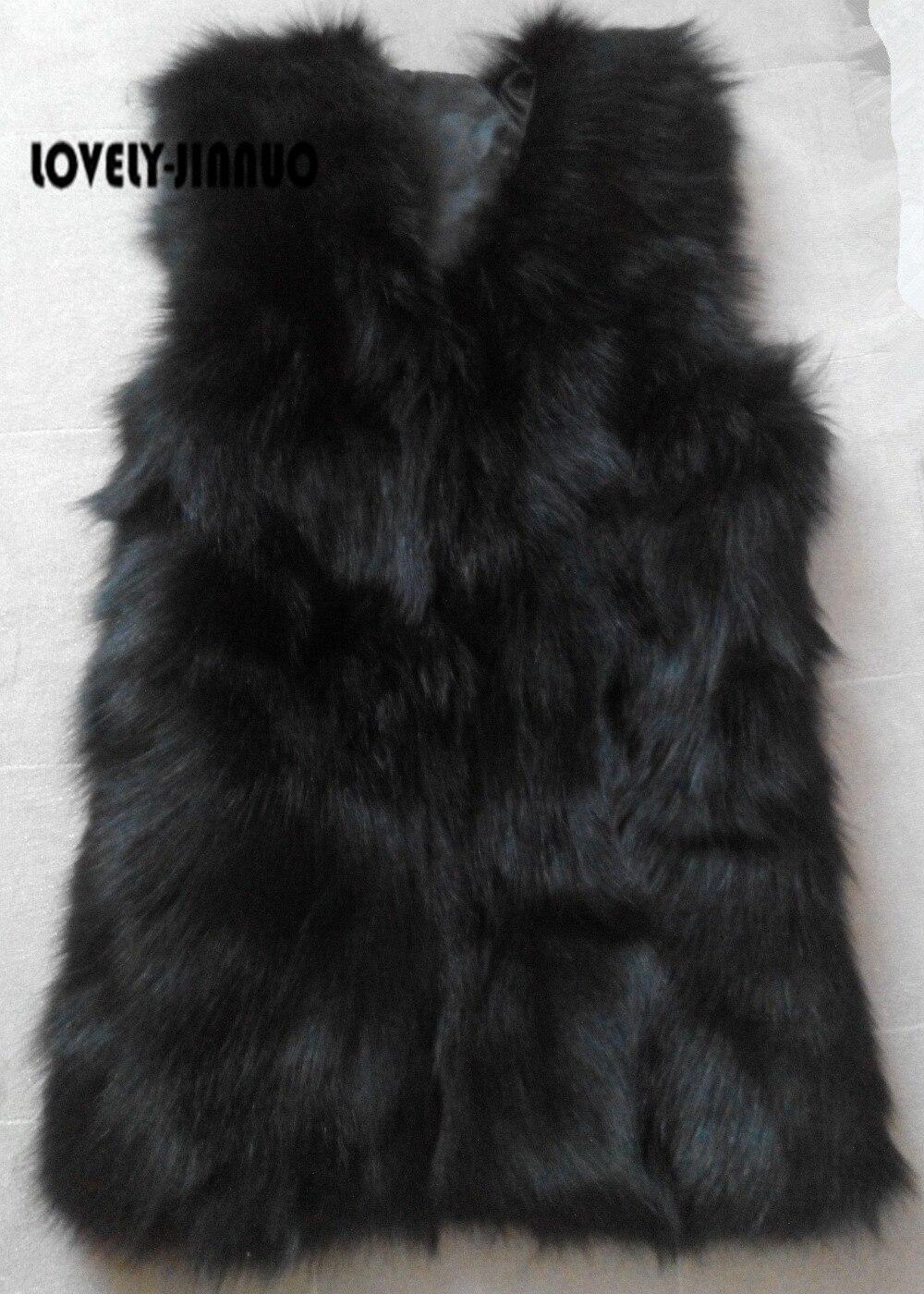 Vente Grande Gratuite Taille Long De Veste Fourrure Réel Gilets Hiver Chaude Tf0417 Naturelle Femmes Livraison Renard Gilet 100 Manteau r4nFr6