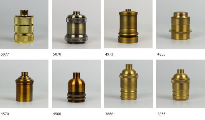 Bases da Lâmpada e27 suporte da lâmpada loft Matéria-prima : Latão, metal