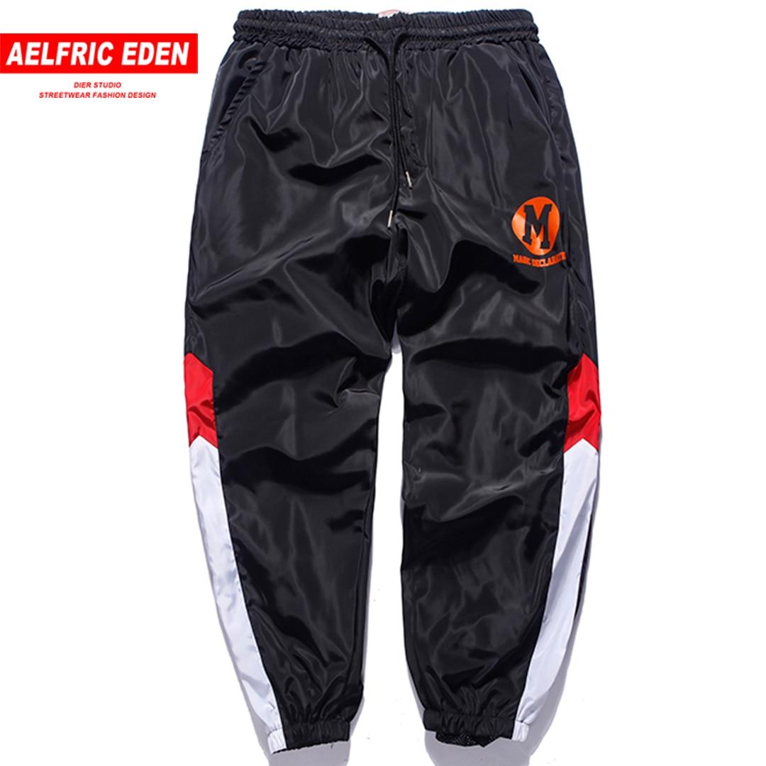 Aelfric Eden 2018 Fashion Color Block Spliced Stripe Mens Sweatpants Hip Hop Casual Track Pants Jogger Trousers Streetwear Kj259 Relieving Rheumatism