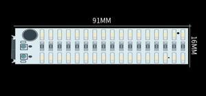 Image 3 - 2X17 LED USB Mini ses kontrolü ses USB müzik spektrum ışık flaş ses seviyesi göstergesi için LED MP3 amplifikatör