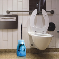 New bathroom toilet home cleaning powerful brush toilet decontamination with base toilet brush set cartoon dolphin