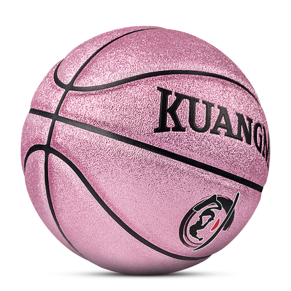 Kuangmi NEW Colorful Pearl Bright PU Children Game Basketball Ball Shooting Trainer Indoor Outdoor 5# Give Child The Best Gift