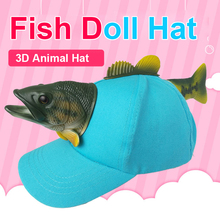 2019 New 3D Cute Green Fish Cap Cute High Quality Visor Hat Adult And Children Christmas Gift For Women And Men Novelty Caps цена