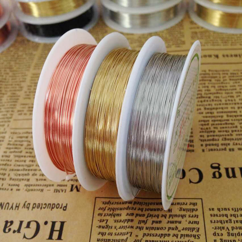 1 x 8M ROLL Black Plated Copper Wire 0.6mm Nickel Free Jewellery Craft Making
