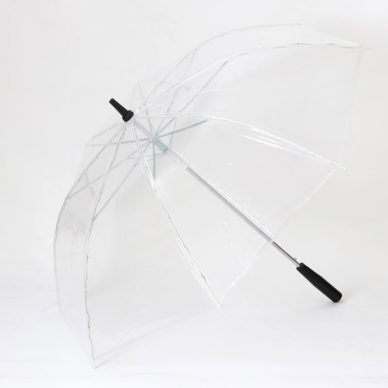 LED Light Transparent Unbrella For Environmental Gift Shining Glowing Umbrellas Party Activity props Long Handle Umbrellas