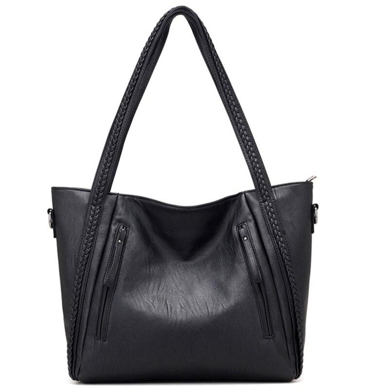 Begeistert Frauen Umhängetasche Handtaschen Marke Hohe Qualität Weichen Leder Casual Damen Tote Schulter Tasche Große Kapazität Zipper Messenger Tasche üBereinstimmung In Farbe