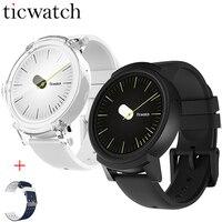 D'origine Ticwatch E Expres Montre Smart Watch Android Wear OS MT2601 Double Core Bluetooth 4.1 WIFI GPS Smartwatch Téléphone + Une Sangle Libre