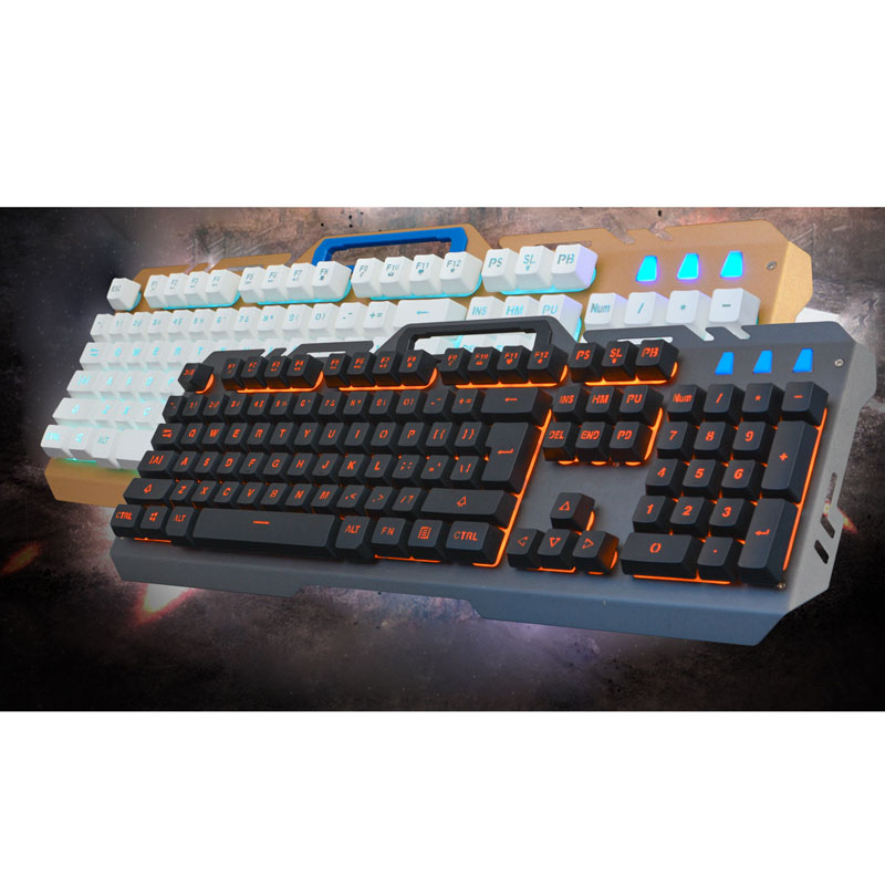 Multimedia Ergonomics Game 104 keys Keyboard Usb Wired LED Backlight +3200DPI 6 Button Optical Gamin SL@88
