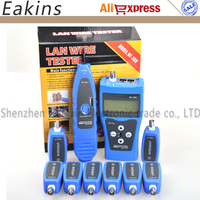 Free Shipping NOYAFA NF 388 Blue/Red Network Cable Tester LAN RJ45 RJ11 USB Cable Tester Cable FOR 8 pc ports English version