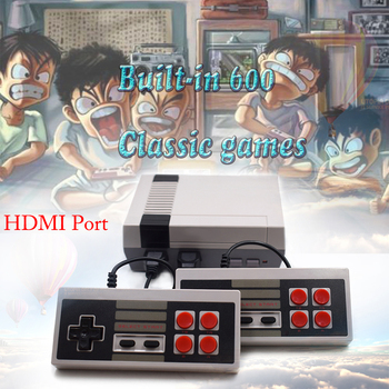 KYVG Retro Family HDMI Mini TV Game Console HD Video Classic Handheld Game Players Built-in 600 Games HD Dual Gamepad