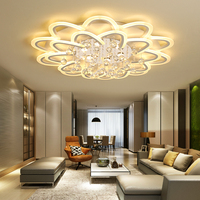Acrylic white modern lamp room bedroom remote control Led indoor lamp home adjustable lighting