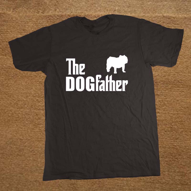 Brand clothing the dogfather english bulldog dog funny t for Which t shirt brand is the best