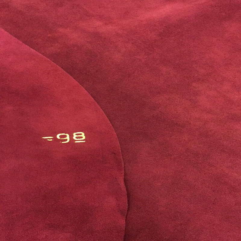 Hotsale Burgundy Genuine Cow   suede     Leather   Fabric for Boots/DIY/Handbag,Free Shipping