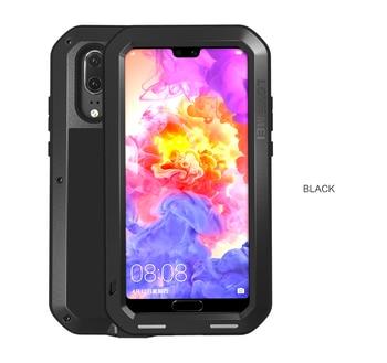 AŞK MEI Metal Su Geçirmez Kılıf Için Huawei P20 Darbeye Kapak Için Huawei P20 Pro P20 Durumda Alüminyum Koruma P20 gorilla cam