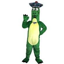 8dbb81ec7bf98f Nieuwe Groene dinosaurus dragen van een hoed Mascotte kostuums voor  volwassenen circus kerst Halloween Outfit Fancy Dress Pak Gr..