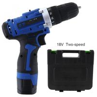 Electric Drill 100 240V Cordless 18V Rechargeable Electric Drill Tool Box with Rotation Switch for Handling Screws / Punching