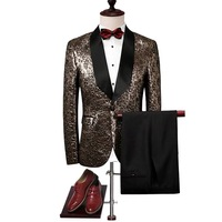 Элегантные мужские костюмы 2019 на заказ настоящая Вышивка Королевский цветочный блейзер Slim Fit выпускные костюмы мужские жених свадебные кос