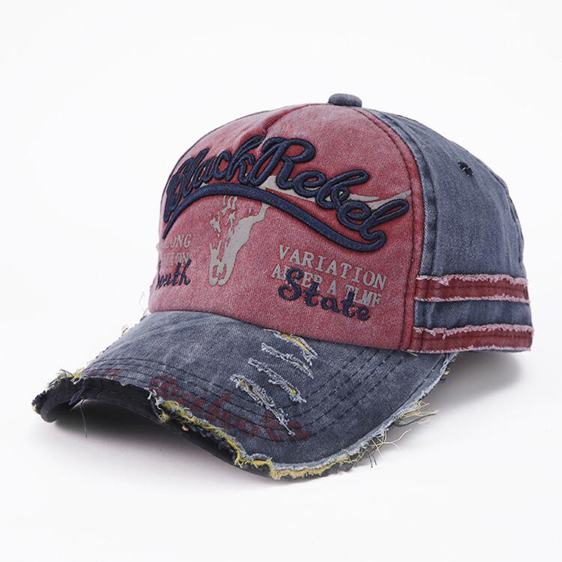 HANGYUNXUANHAO Summer Fashion Vintage Baseball Cap Casual Washed Cotton Snapback Embroidery Caps For Men Women Hat Unisex Gorras in Men 39 s Baseball Caps from Apparel Accessories