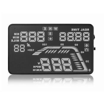 "KUNFINE 5.5"" Multi Color Car HUD GPS Head Up Display Speedometers Overspeed Warning Dashboard Windshield Projector 2 Colors Q7"