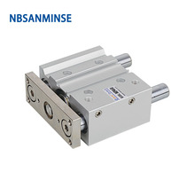 NBSANMINSE MGPL Bore 40mm Pneumatic Air Cylinder SMC Type ISO Compact Cylinder Miniature Guide Rod Double Acting smc type air cylinder cqmb cdqmb bore 40mm stroke 5 10 15 20 25 30mm double acting compact rod guide pneumatic ram cylinder