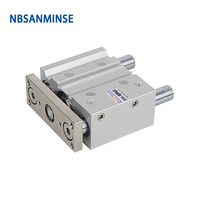 NBSANMINSE MGPL Bore 40mm Pneumatic Air Cylinder SMC Type ISO Compact Cylinder Miniature Guide Rod Double Acting