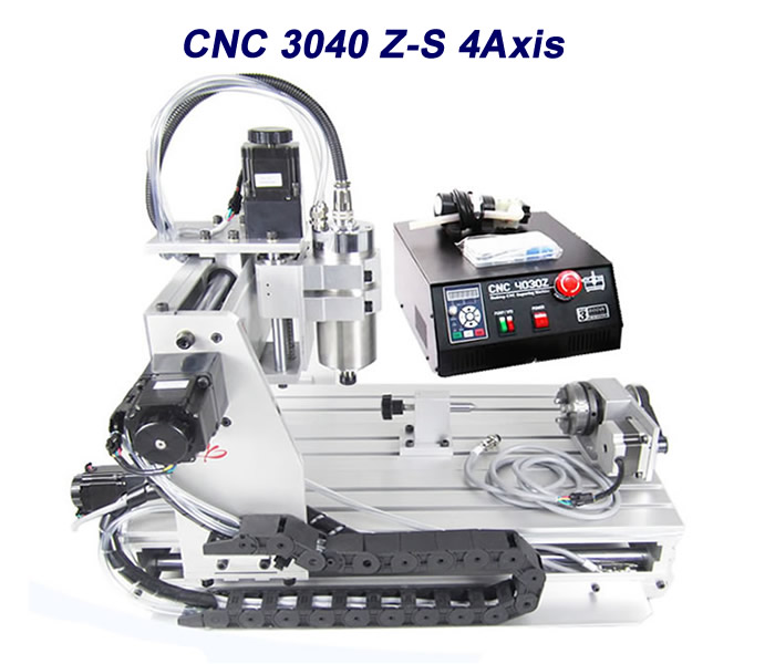4 axis CNC router 3040Z-S Pcb cnc milling machine with 300*400mm engraving area PCB Milling Machine cnc 5axis a aixs rotary axis t chuck type for cnc router cnc milling machine best quality