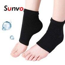 Sunvo Силиконовый гелевый рукав для пяток Педикюр Увлажняющие носки с потрескавшейся кожей SPA Увлаж