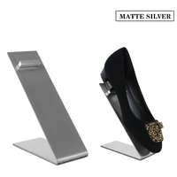 Linliangmuyu 10 STKS groothandel metalen rvs schoen display rack standhouder schoen winkel display props goede kwaliteit XJ12