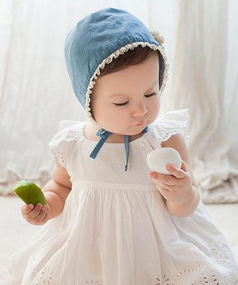 Forest Style Spring Summer Autumn bear Toddler Kids Baby Girls Cotton Cap  Vintage Lady Princess Lace Hat 5 Pcs 4014f0cada9