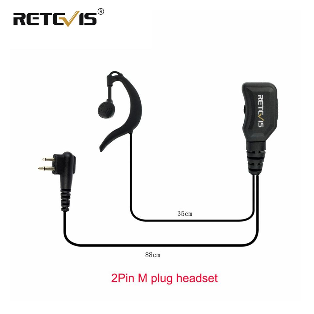 Reteivs R-111 Volume Adjustable Earpiece PTT Mic Headset For Motorola GP68 CP88 CT150 P080 PRO1150 For HYT TC-500 Walkie Talkie