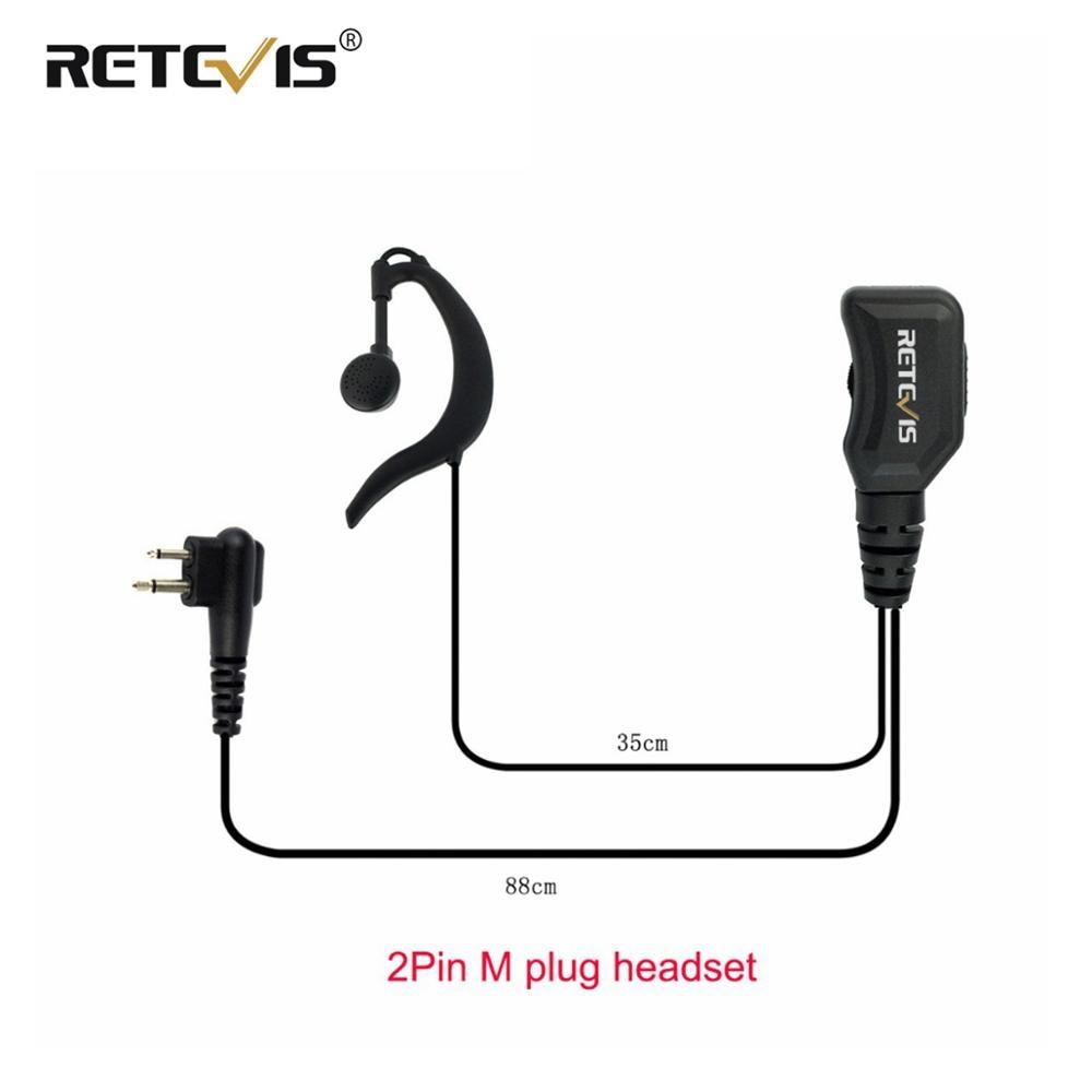 Reteivs R-111 Volume Adjustable Earpiece PTT Mic Headset For Motorola GP68 CP88 CT150 P080 PRO1150 For HYT TC-500 Walkie Talkie