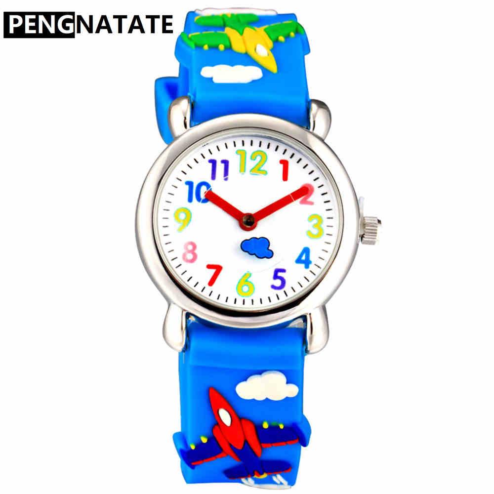 PENGNATATE Silicone Watches Fashion Cartoon Strap Kids Watch Boys Quartz Hand Clocks Children Girls Wristwatches Gift Hot Sale