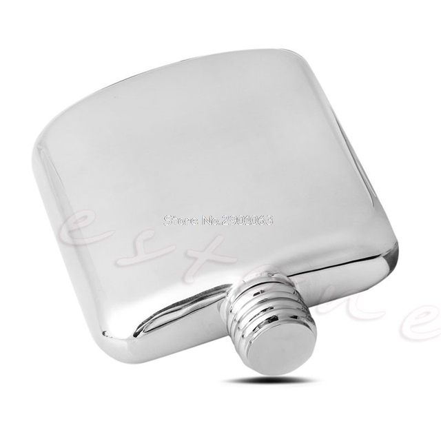 Portable 4 Oz Stainless Steel Hip Flask Liquor Box Alcohol Bottle Mini Wine Pot Wisky Jerry Can Drinkware Kitchen Tools H06