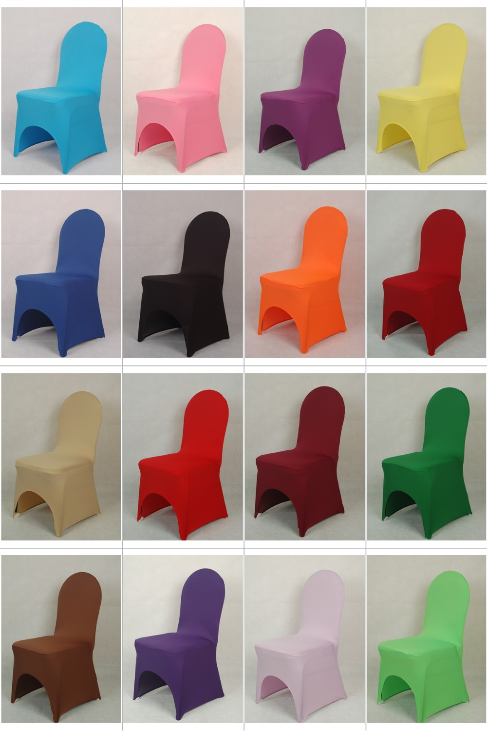 Lycra Universal Chair Cover For Wedding Decoration Spandex Chair Cover For Sale Banquet Chairs Arch Front Open Cheap Price