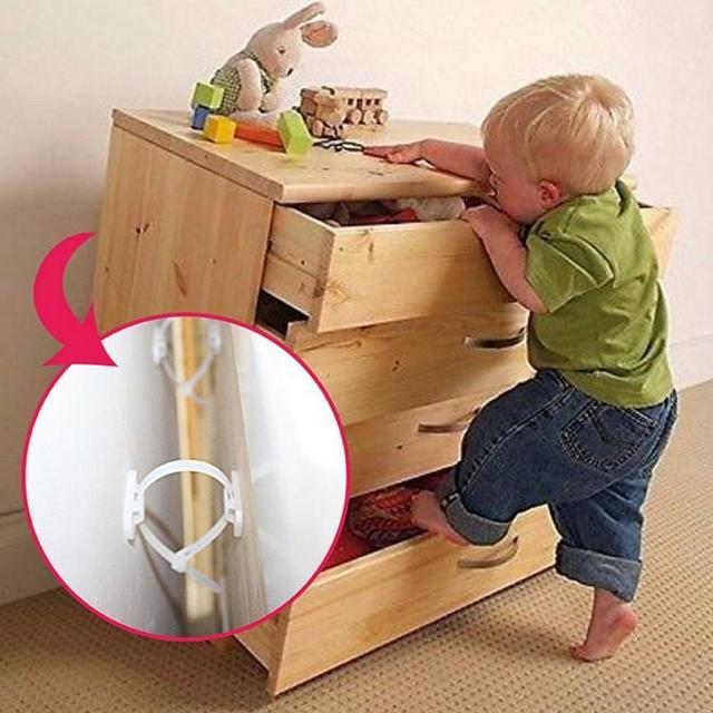 2 Sets Anti Tip Furniture Strap Falling Furniture Prevention Device